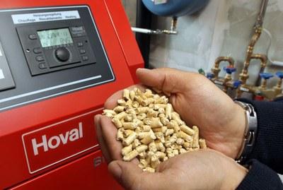 Installation pellets Hoval